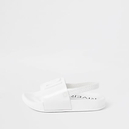 Mini girls white RI jelly sliders