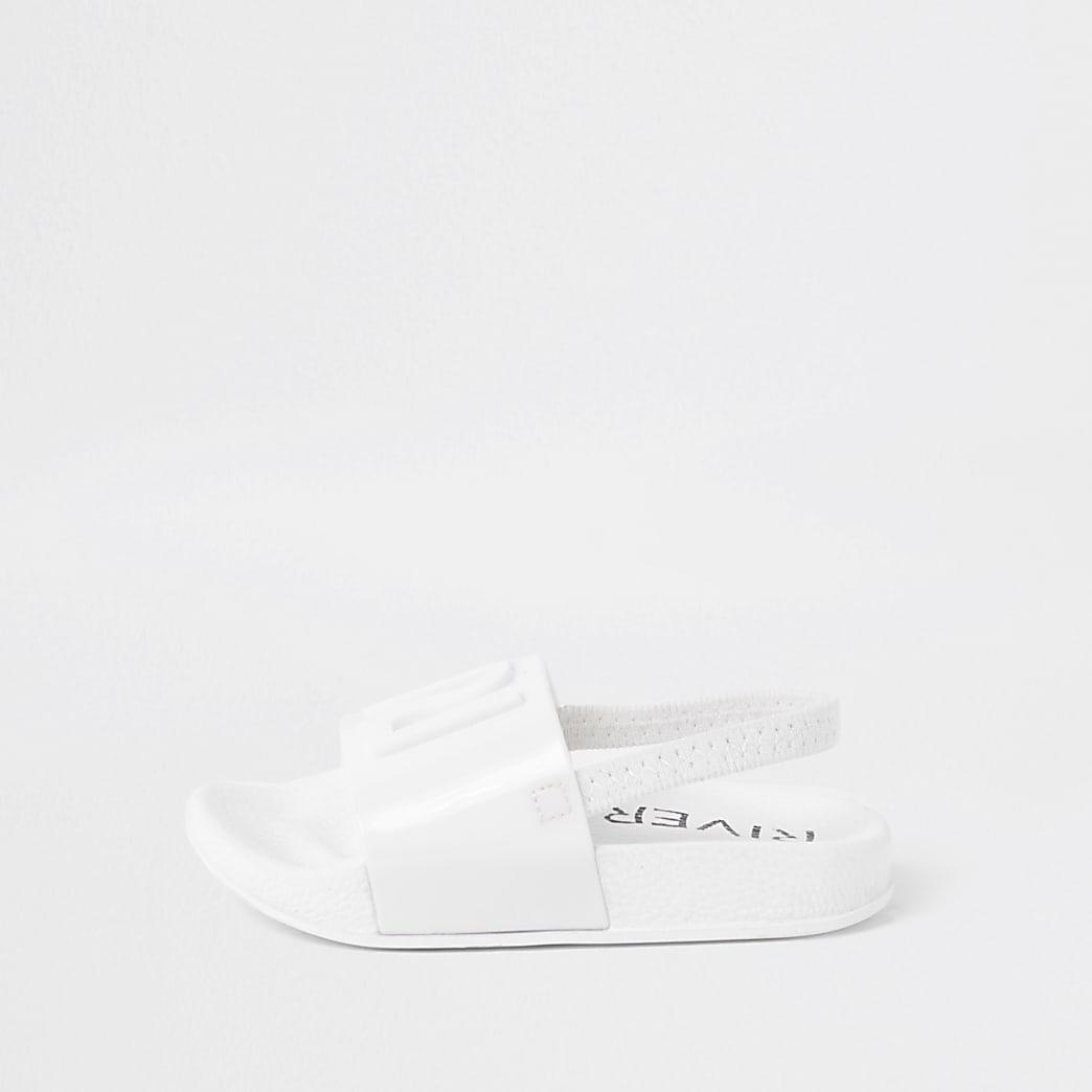 Mini - RI jelly slippers in wit met meisjes