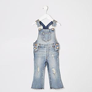 Blaue Jeans-Latzhose