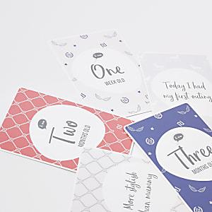 Grijze Baby Milestone-kaarten