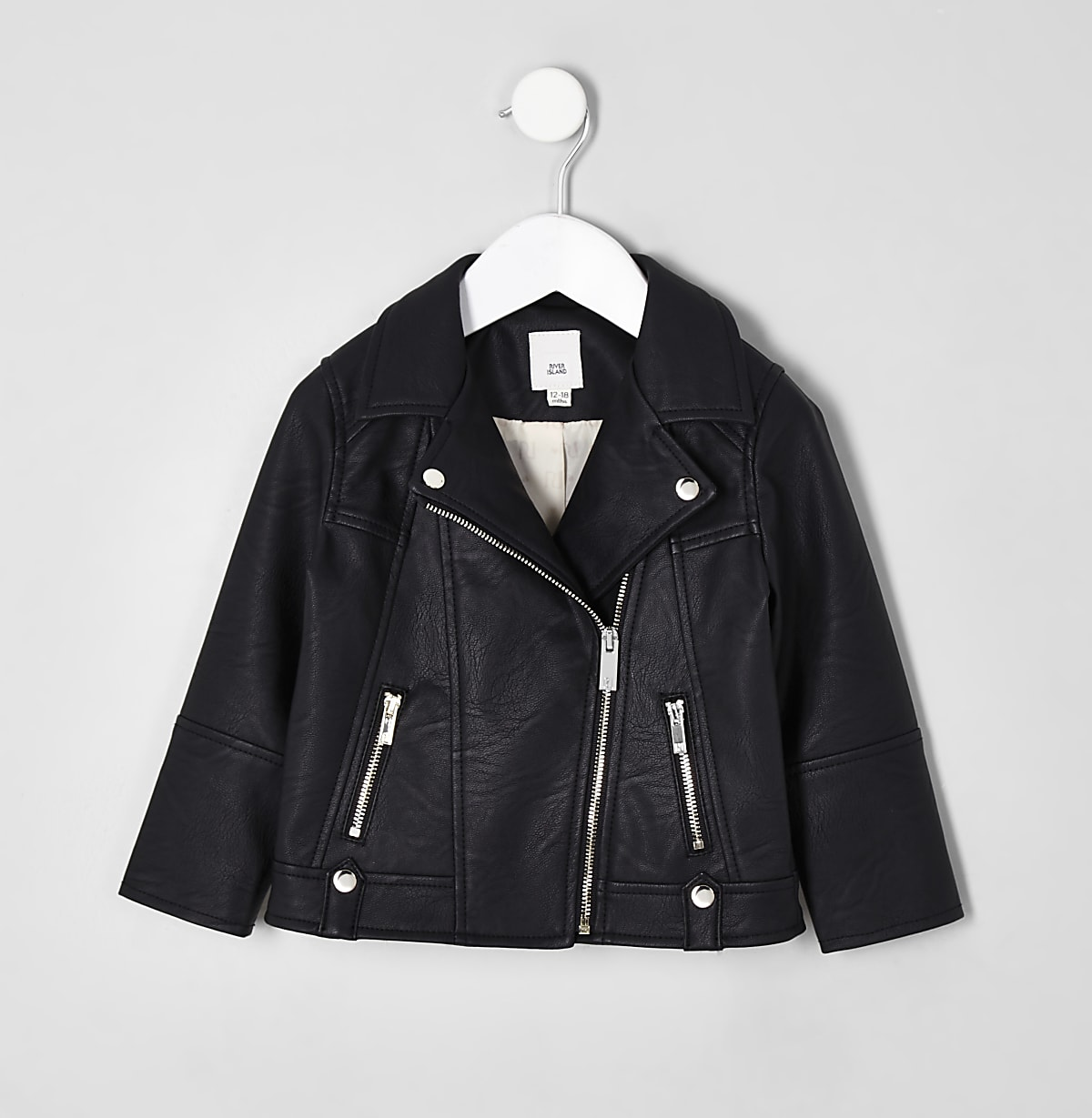 a9efcaf4f8c27 Perfecto en cuir synthétique noir pour mini fille - Manteaux bébé ...