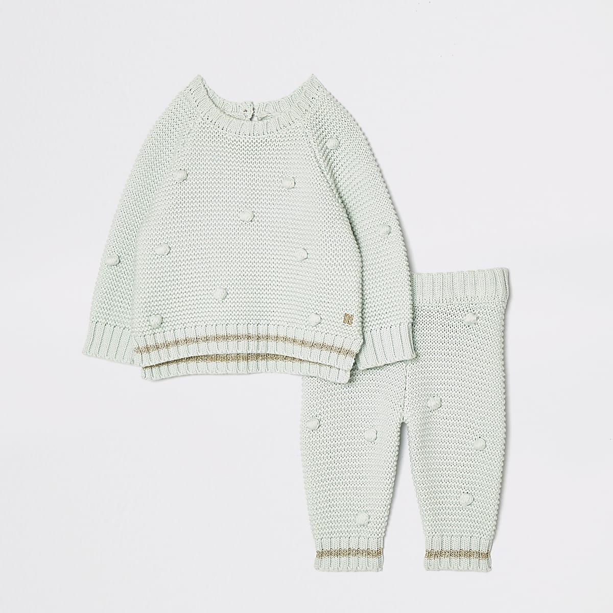 Trui Met Stippen.Set Met Babygroene Trui Met Stippen Outfits Voor Babymeisjes