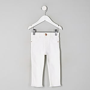 Mini girls white Molly mid rise jeggings