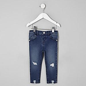 Amelie – Dunkelblaue Jeans im Used-Look