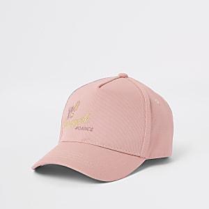 Casquette rose motif ananas pour fille
