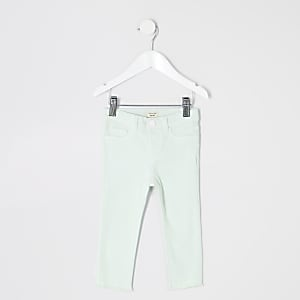 Mini girls mint green Molly jeggings