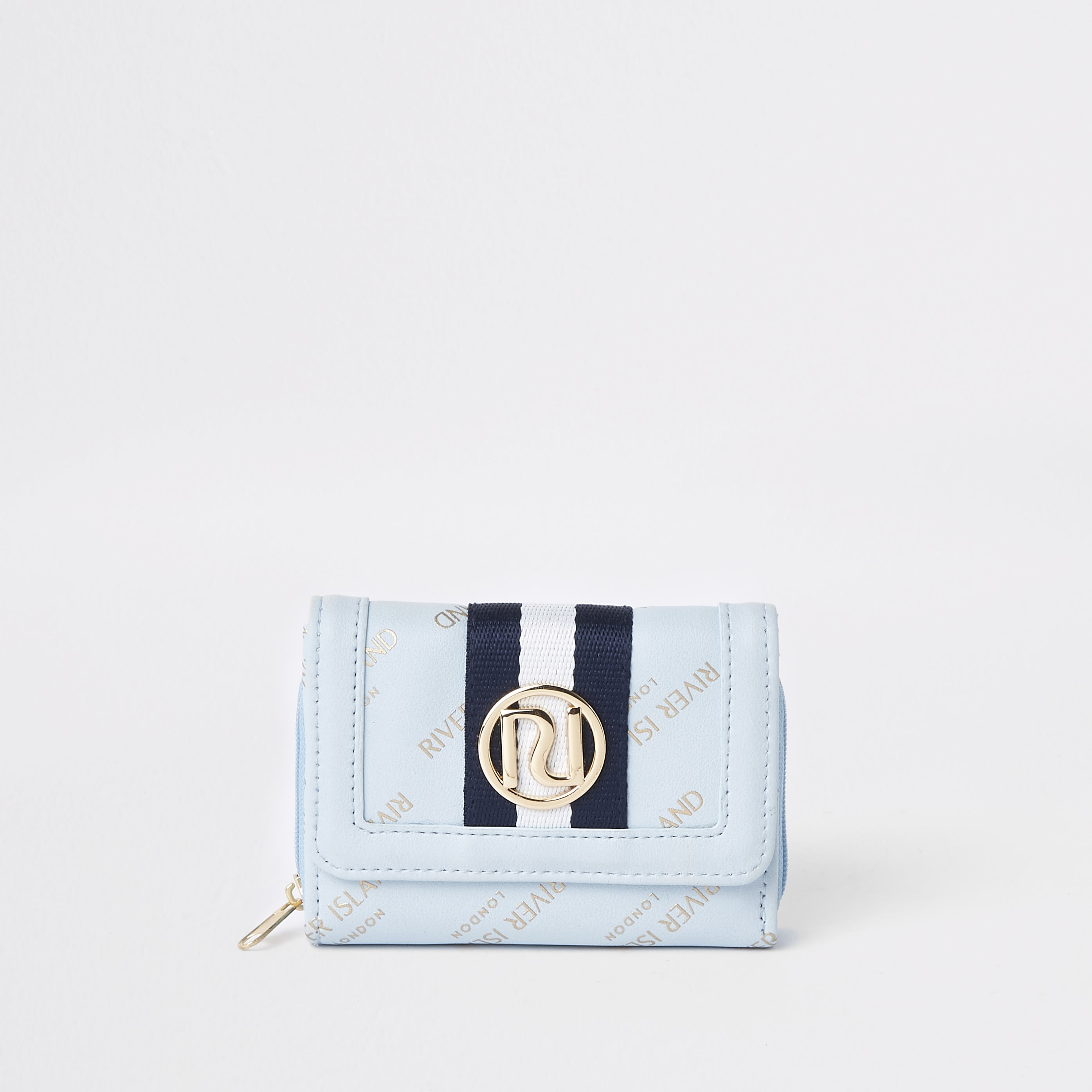 RIVER ISLAND | Girls Blue RI Trifold Purse | Goxip