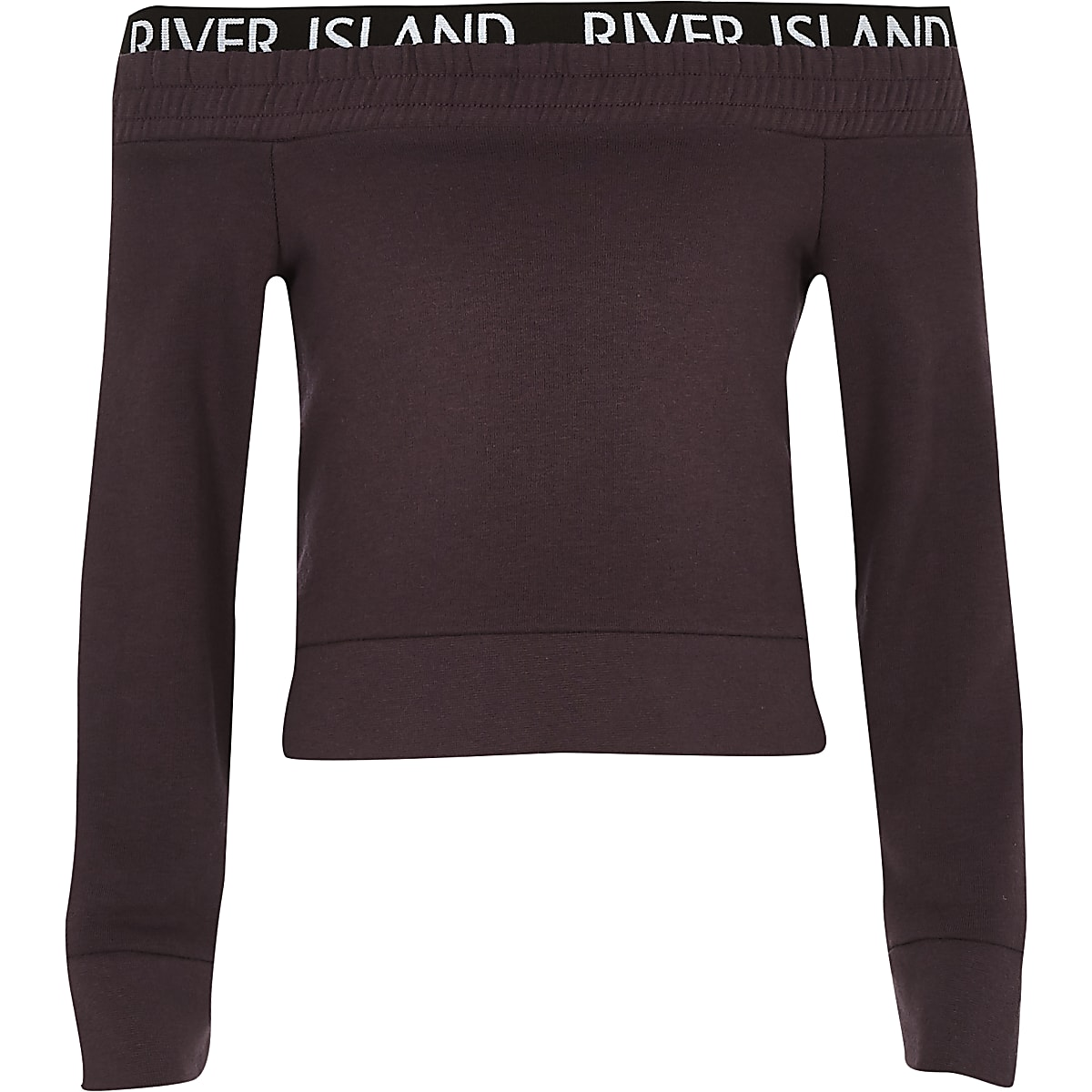 Girls RI Active purple bardot sweatshirt