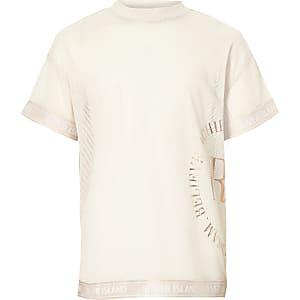 Girls RI Active pink mesh T-shirt