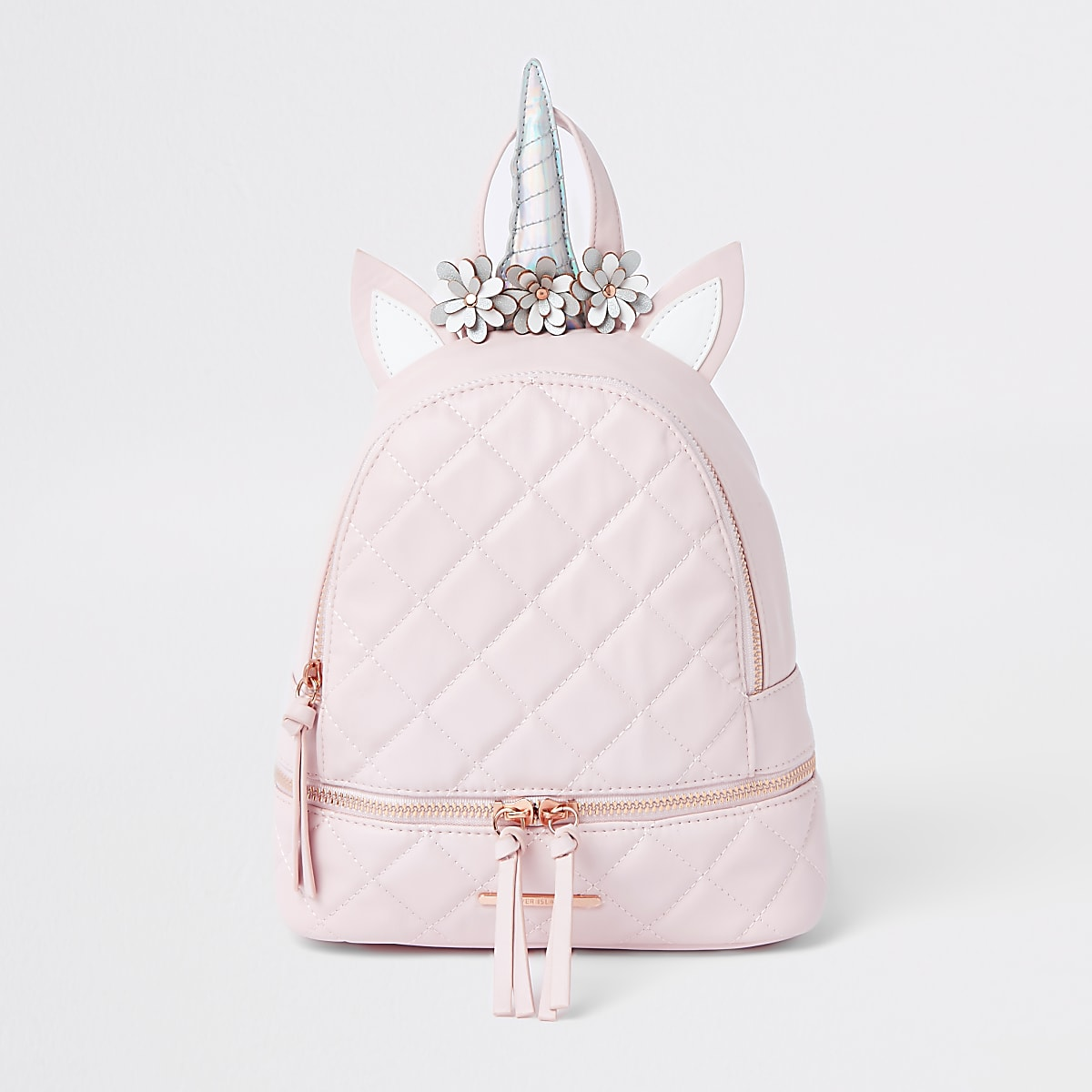 Girls pink unicorn backpack