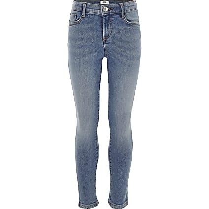 Girls blue Amelie skinny jeans