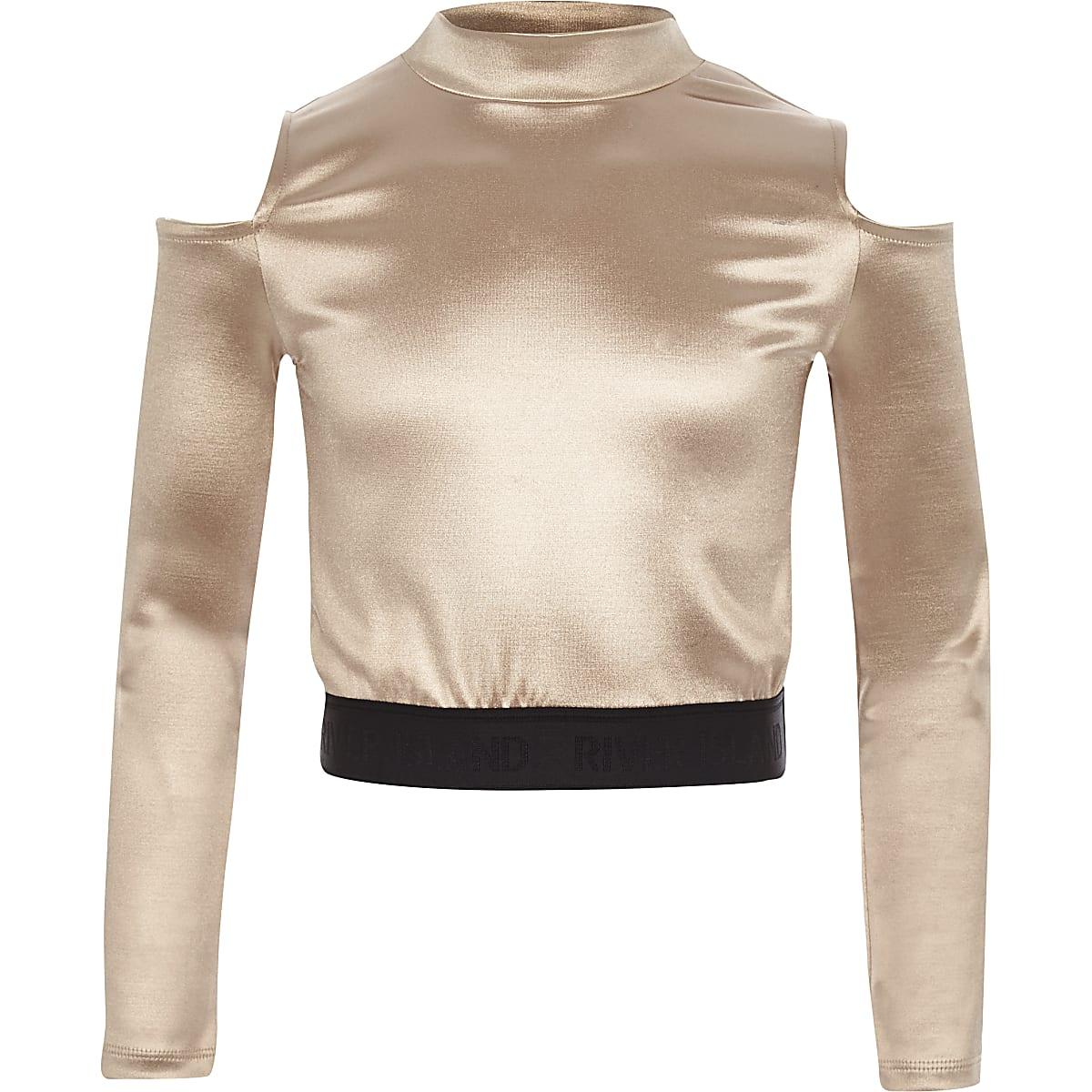 RI Active - Roze schouderloze discotop voor meisjes