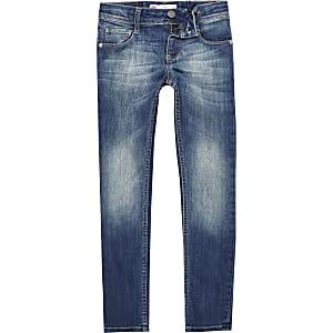 Levi's – Blaue, verwaschene Skinny Jeans