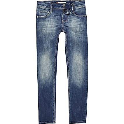 Girls Levi's blue faded skinny jeans