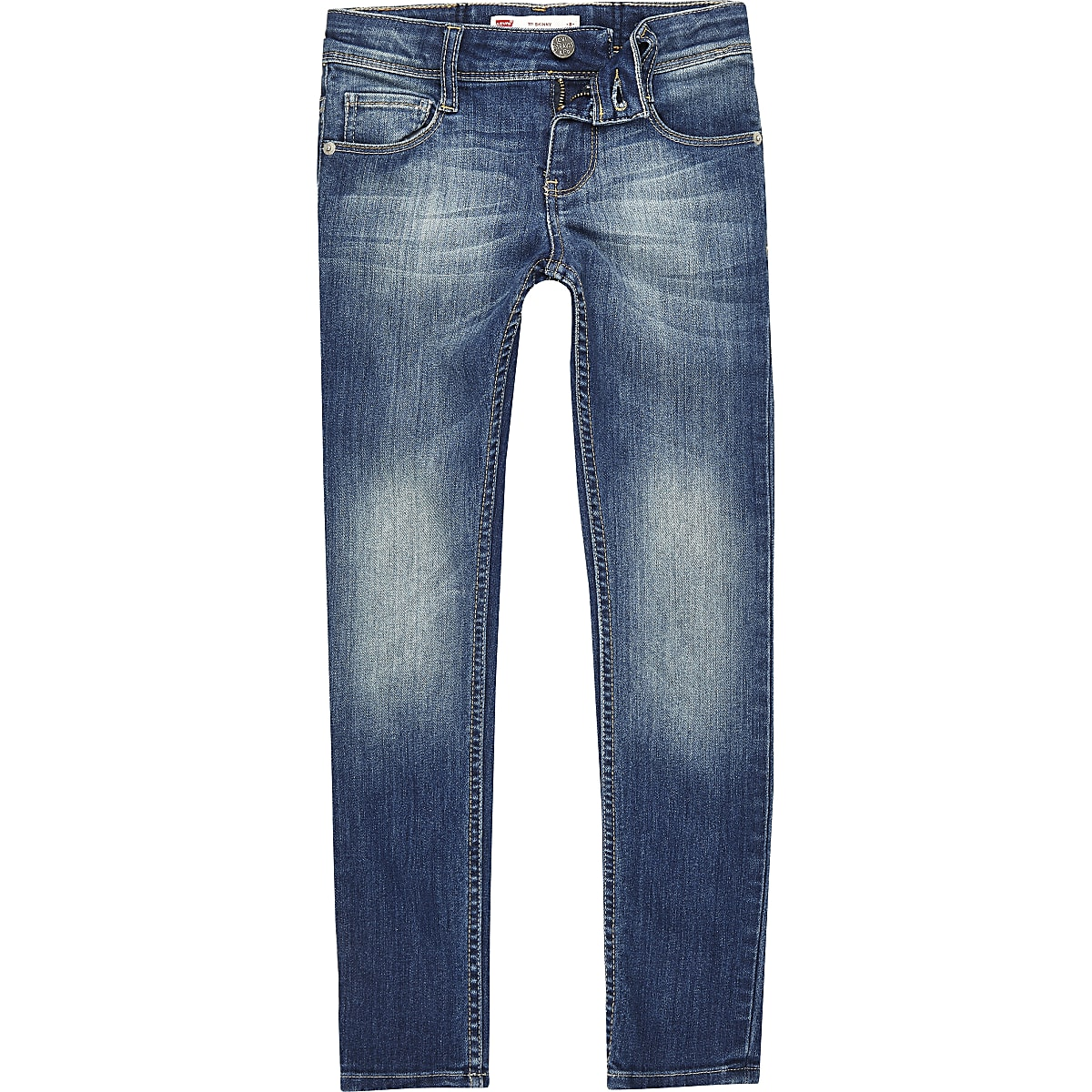 Girls Levi's blue faded skinny jeans