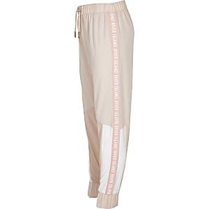 RI Active – Pantalon de survêtement colour block rose pour fille