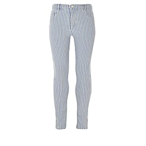 Girls blue stripe Molly high rise jeggings