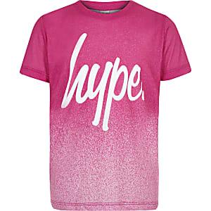 Hype – T-shirt moucheté rose pour fille