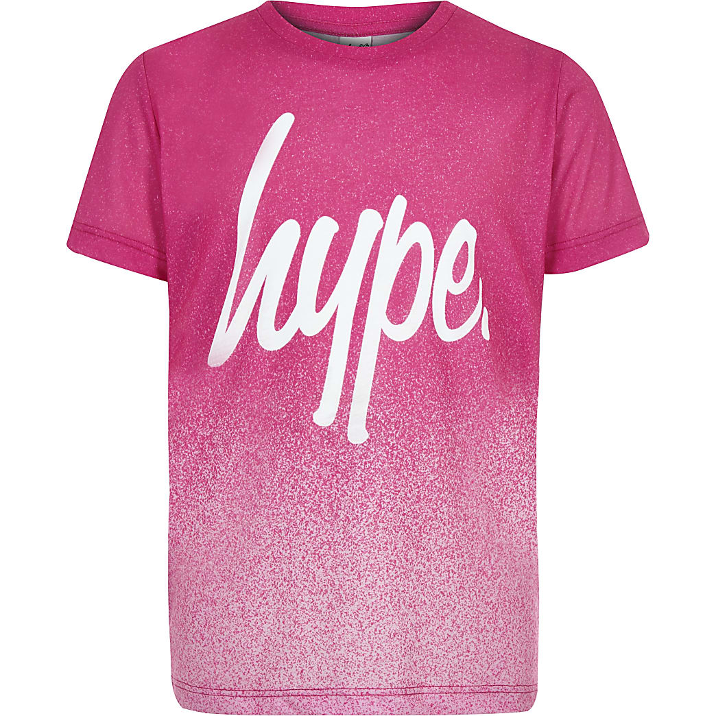 Hype - Roze gespikkeld T-shirt voor meisjes
