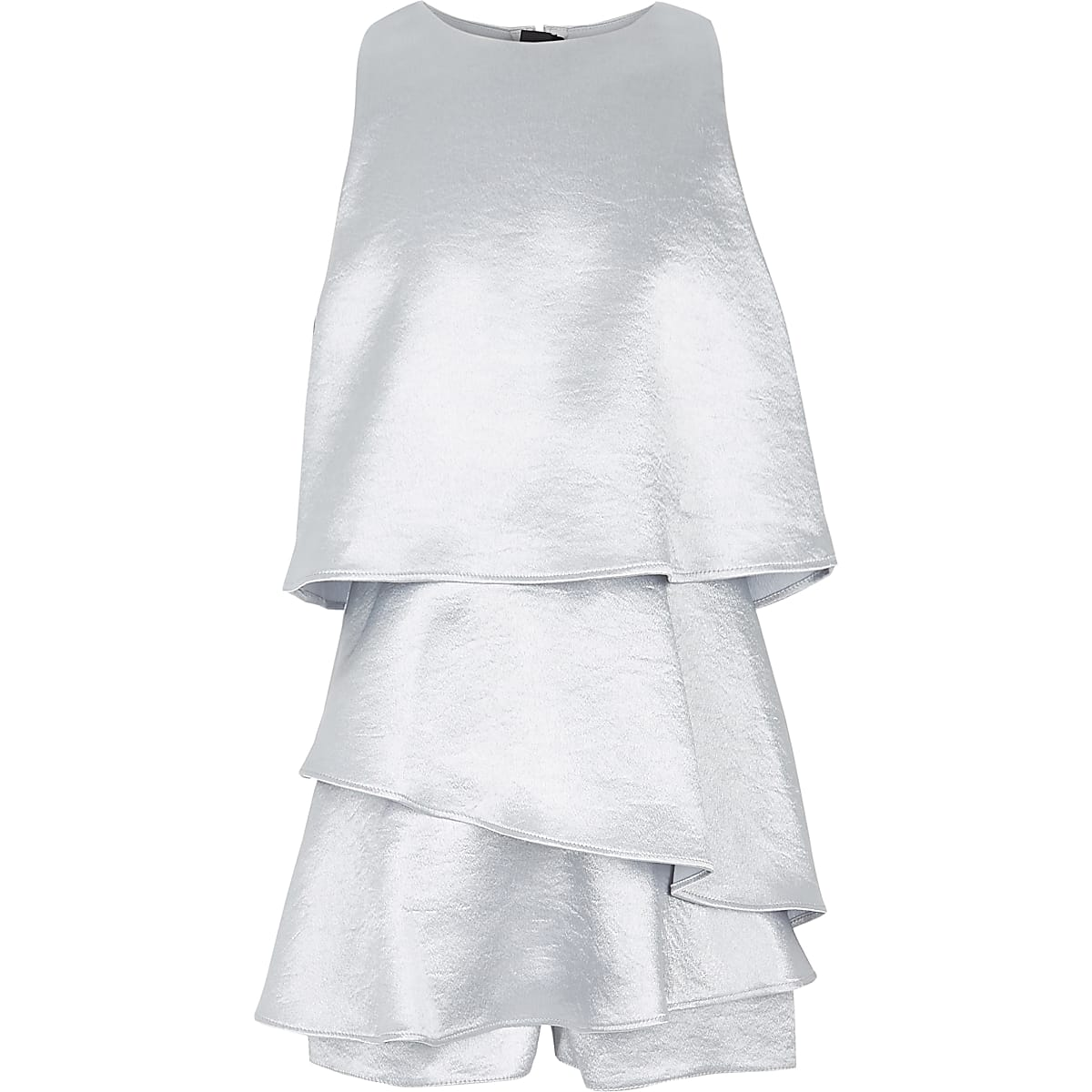 Girls silver skort playsuit
