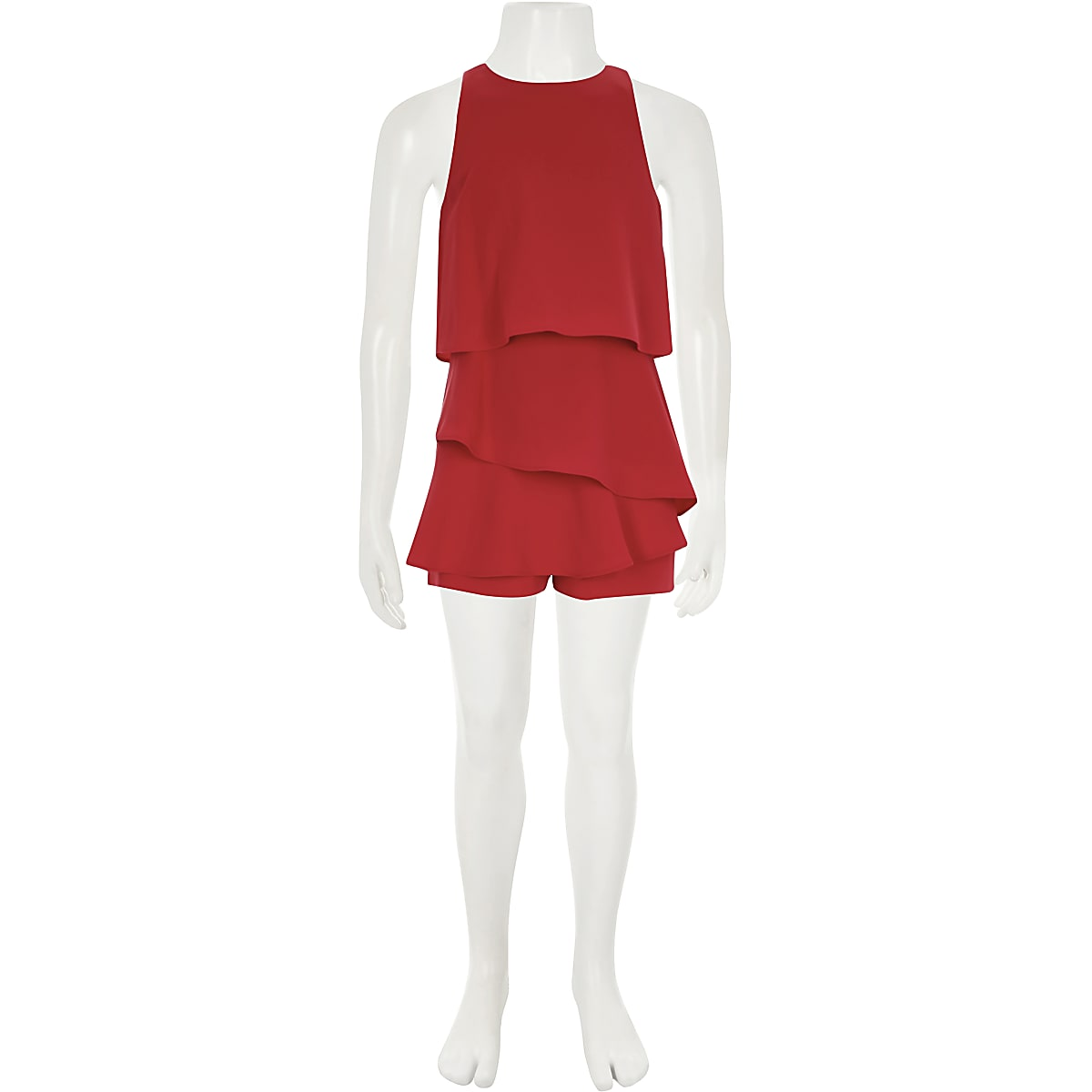 8db4551355a Girls red skort frill playsuit - Playsuits - Playsuits   Jumpsuits ...