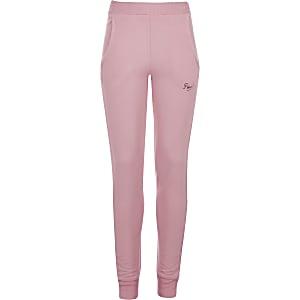 Pineapple - Roze skinny joggingbriek met manchetten voor meisjes