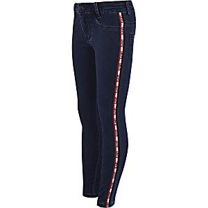 Girls light blue Levi's Indigo tape jeans