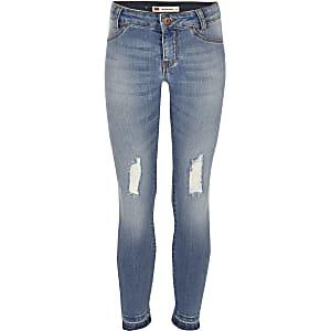 Levi's – Blaue Jeans im Used-Look