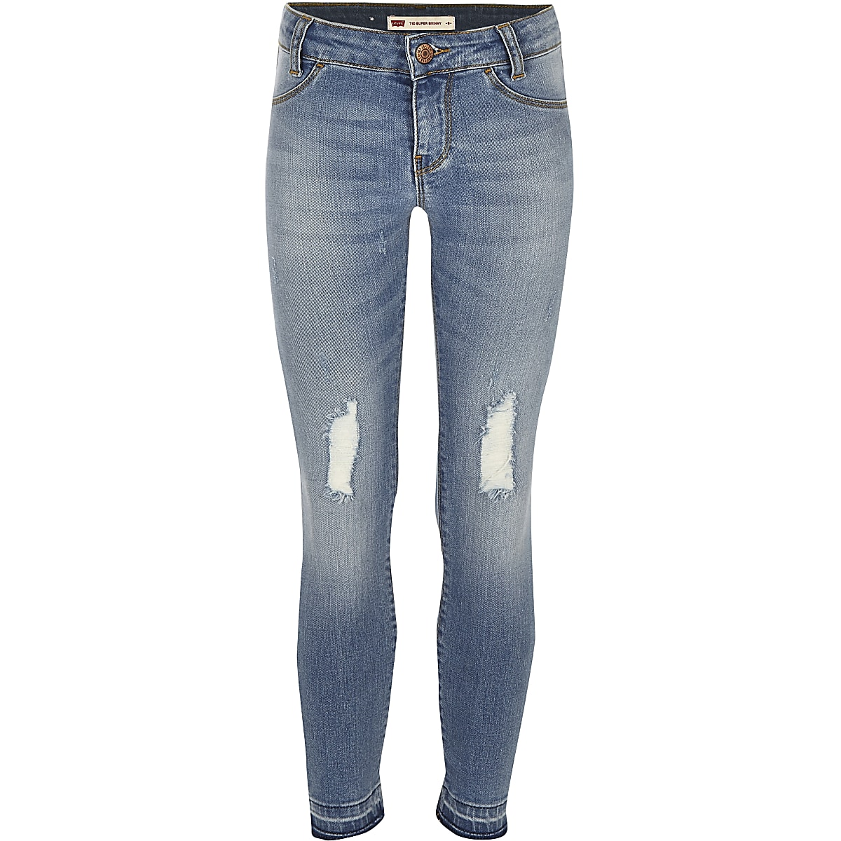 Girls Levi's blue ripped jeans