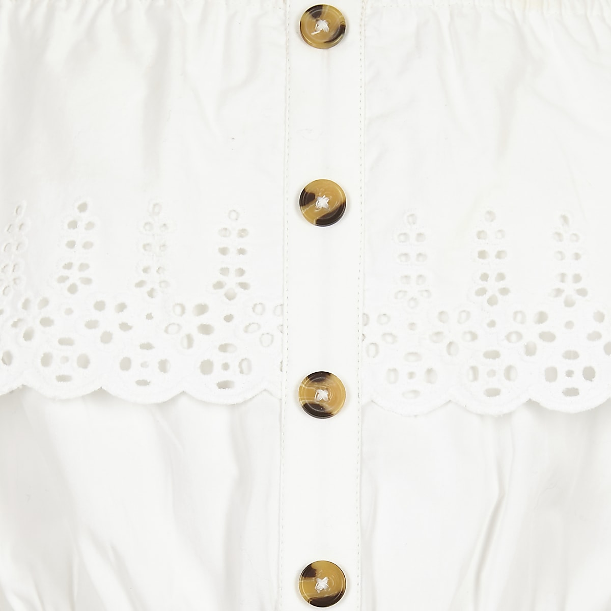 142fd6196 Girls white broderie bardot playsuit - Playsuits - Playsuits & Jumpsuits -  girls
