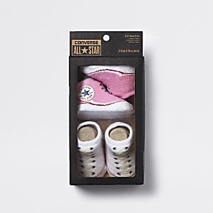 Baby pink Converse All Star booties