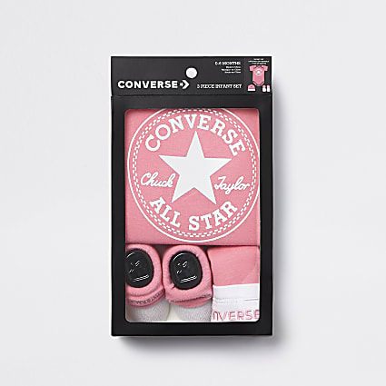 Baby Converse All Star pink set