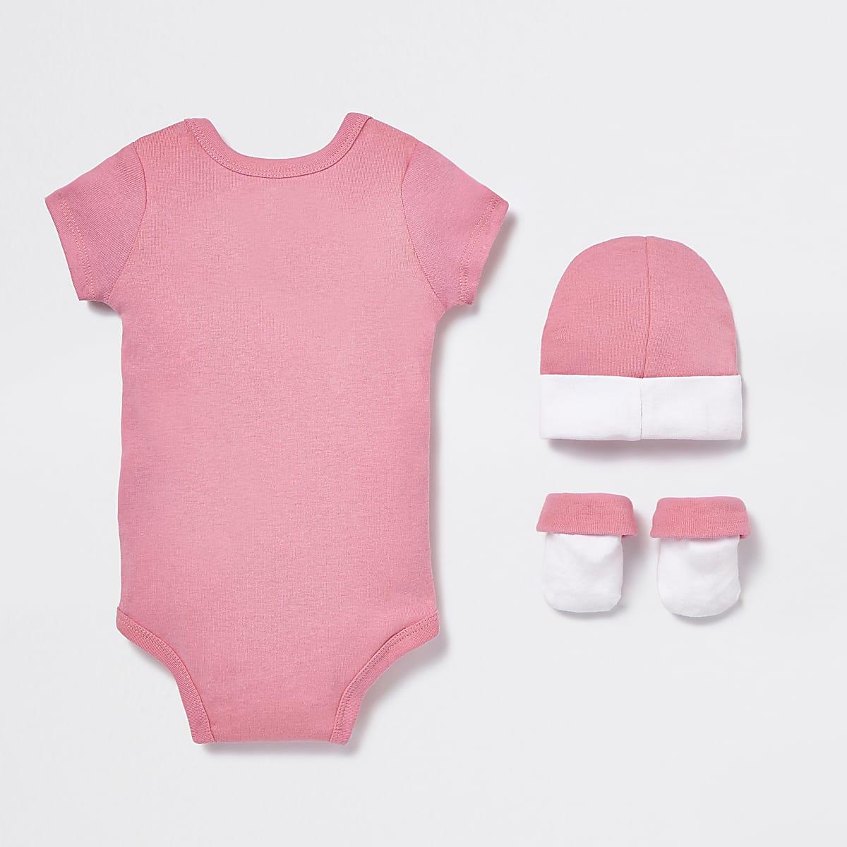b6c7cc0032c1 Baby Converse All Star pink set - Baby Girls Babygrows - Mini Girls ...