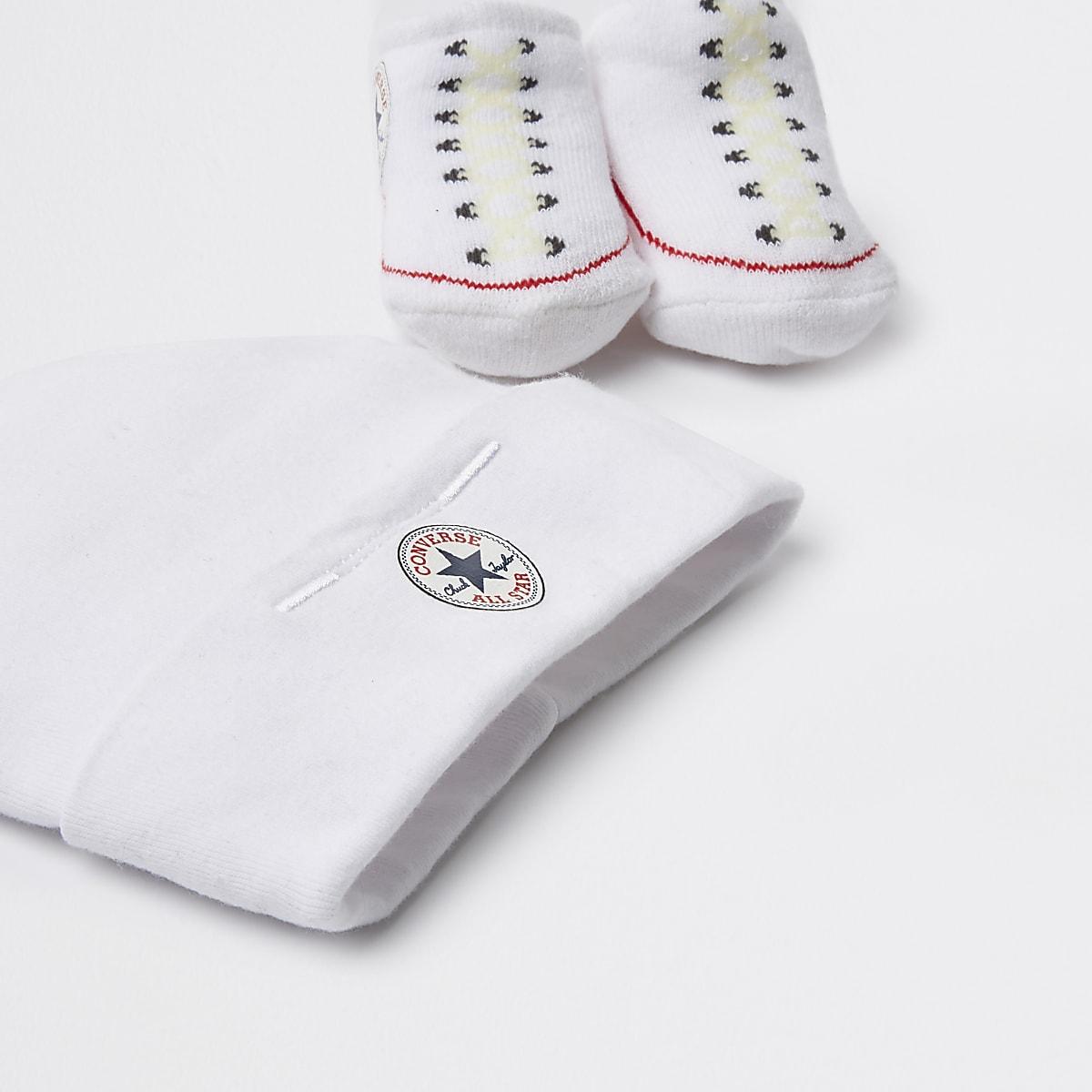 9dba104eb7a6 Baby Converse All Star white hat set - Baby Girls Accessories - Mini ...
