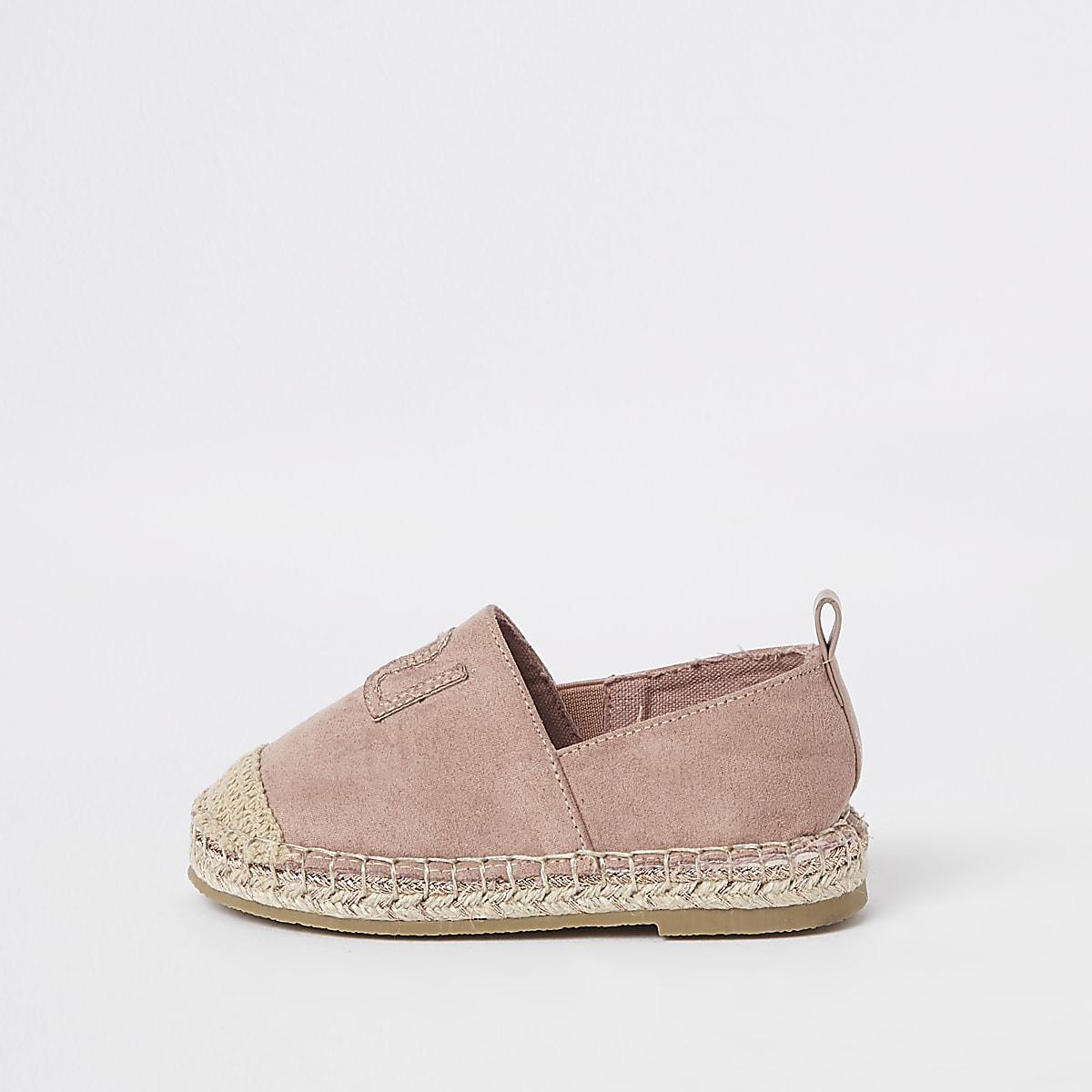 e02f9432f014f Tennis façon espadrilles roses à paillettes mini fille - Chaussures ...