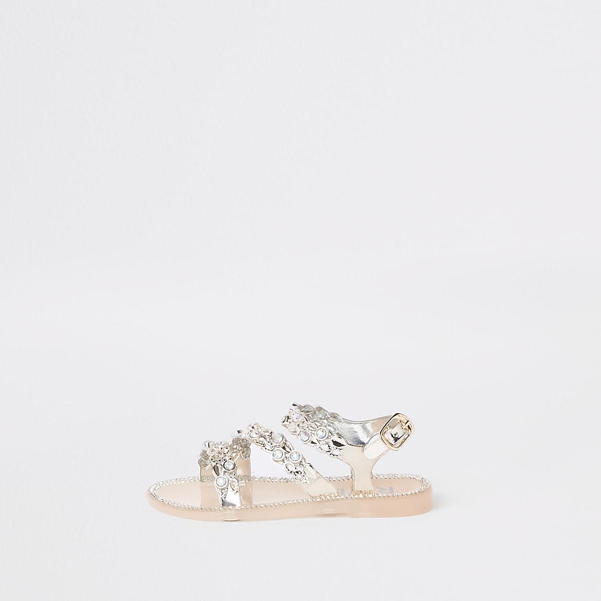 f69033854 Mini girls gold diamante jelly sandals - Baby Girls Sandals - Baby Girls  Shoes   Boots - Mini Girls - girls