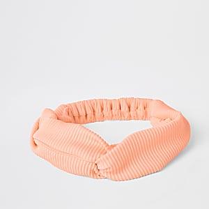 Bandeau de bain orange torsadé