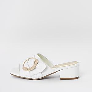 Witte sandalen met gesp voor meisjes