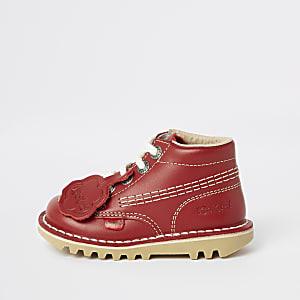 Mini - Kickers - Rode veterschoenen voor kinderen