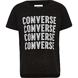 Converse – T-shirt noir pour fille