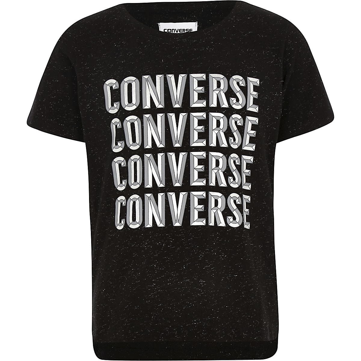 Girls black Converse T-shirt