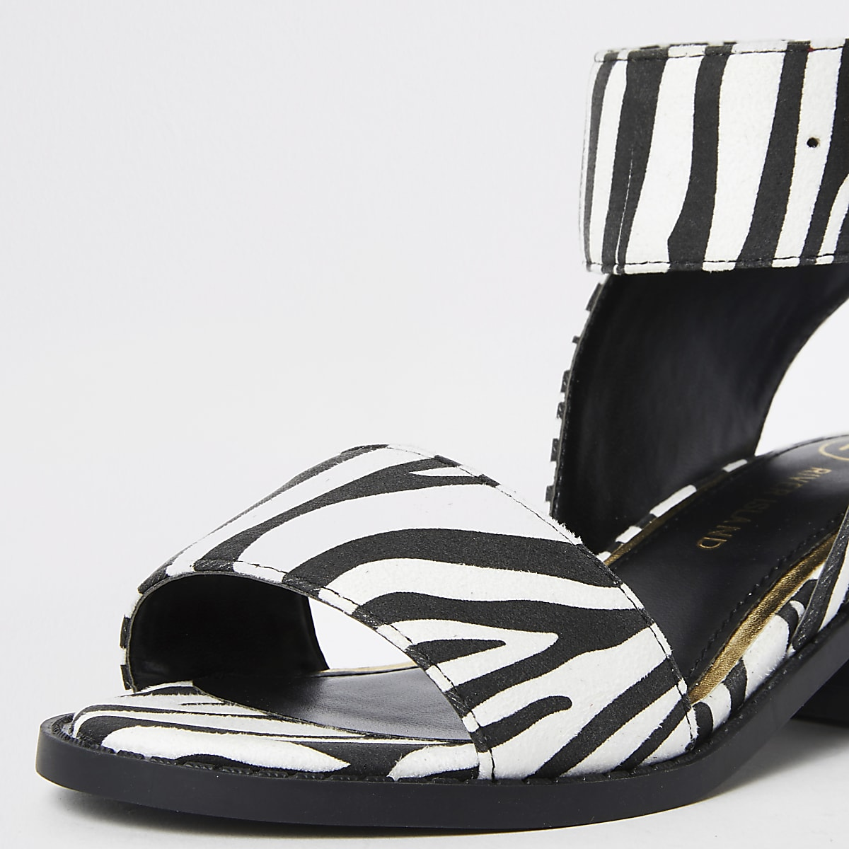 1154c067c Girls white zebra print block heel sandals - Sandals - Footwear - girls