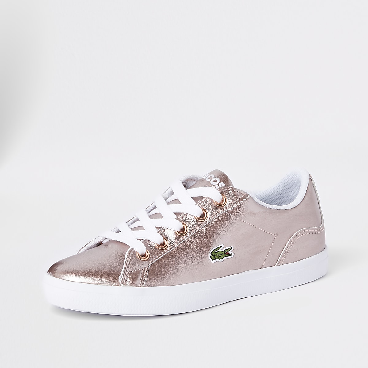 069721c951 Girls Lacoste pink lace up trainers