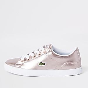 Lacoste – Pinke Sneaker zum Schnüren