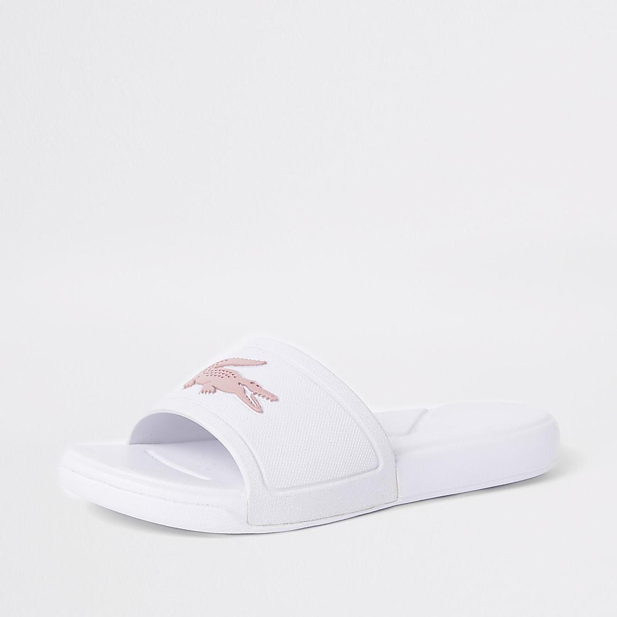 f8d5e6c0780b Girls Lacoste white embossed sliders - Sandals - Footwear - girls
