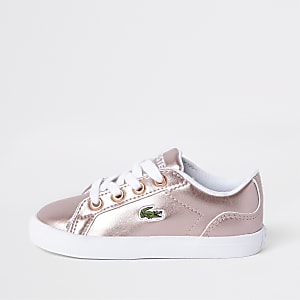 Lacoste – Baskets roses à lacets mini fille