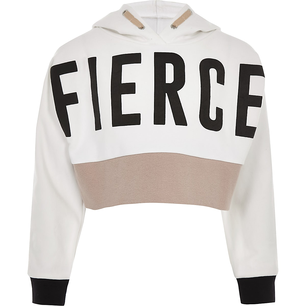 Girls RI Active white 'Fierce' hoodie