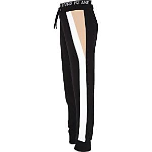 RI Active – Pantalon de jogging noir colour block pour fille