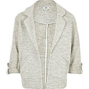 Veste en jersey grise pour fille