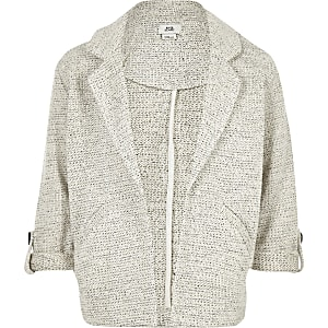 Grijs jersey jack voor meisjes